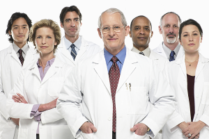 Group portrait of doctors